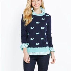 Vineyard Vines blue whale sweater